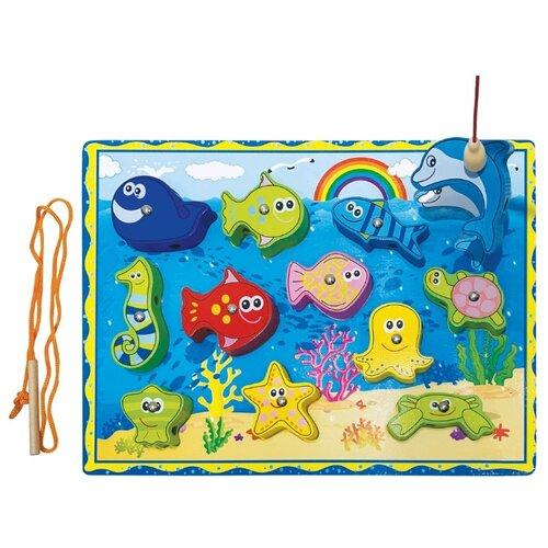 цена на Рыбалка Mapacha Морской мир голубой/желтый/зеленый