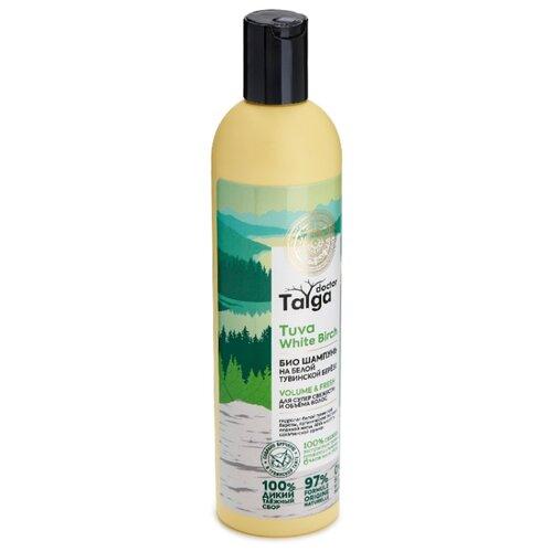 Natura Siberica био шампунь для супер свежести и объема волос Doctor Taiga Tuva White Birch Volume  Fresh, 400 мл