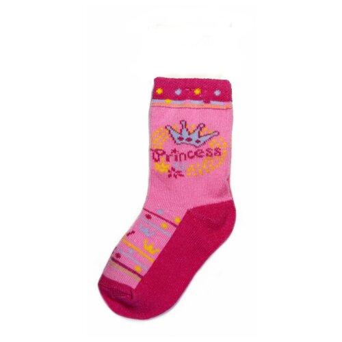 Носки Be Snazzy размер 21-23, розовый/корона