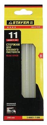 STAYER Клеевые стержни 11x200 мм, 6 шт