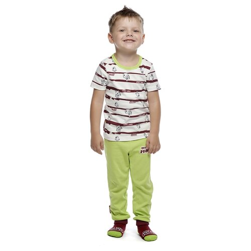 Фото - Пижама lucky child размер 28 (92-98), полосатый пижама lucky child размер 28 92 98 полосатый