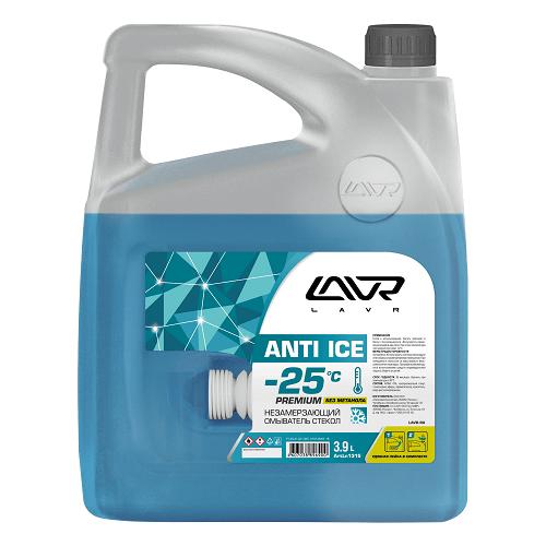 Жидкость для стеклоомывателя Lavr Ln1315, -25°C, 3.9 л