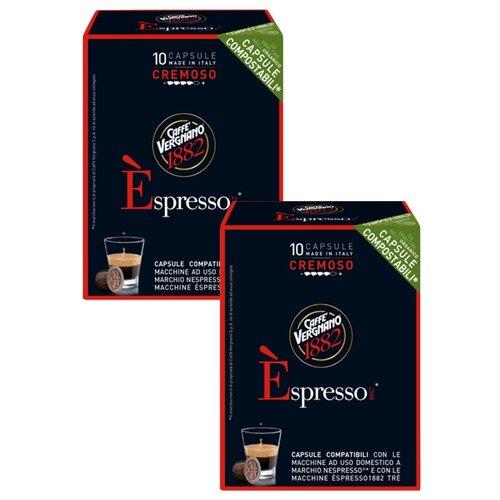 Фото - Кофе в капсулах Caffe Vergnano 1882 Espresso Cremoso, 20 капс. кофе молотый caffe vergnano 1882 espresso casa 250 г