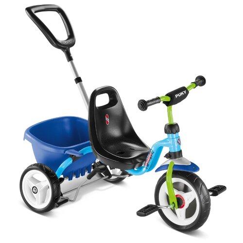 Трехколесный велосипед Puky CAT 1S, blue/kiwi, Трехколесные велосипеды  - купить со скидкой