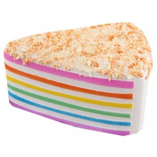 Купить Игрушка-мялка 1 TOY Кусок торта Т15868 бежевый, Игрушки-антистресс