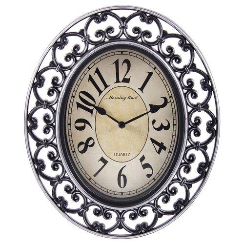 Часы настенные кварцевые Русские подарки 122331/122332 серебристыеЧасы настенные<br>