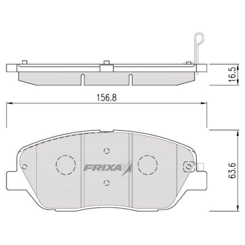 Фото - Дисковые тормозные колодки передние Frixa FPK26 для Kia Mohave (4 шт.) дисковые тормозные колодки передние frixa fpe019 для toyota camry 4 шт