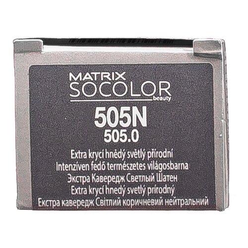 Купить Matrix Socolor Beauty стойкая крем-краска для волос Extra coverage, 505N светлый шатен, 90 мл
