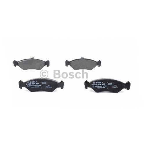 Фото - Дисковые тормозные колодки передние Bosch 0986424416 для Ford Fiesta, Mazda 121 (4 шт.) дисковые тормозные колодки передние ferodo fdb4446 для mazda 3 mazda cx 3 4 шт