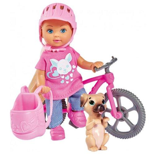 Купить Кукла Simba Еви на велопрогулке с собачкой, 12 см, 5733273, Куклы и пупсы