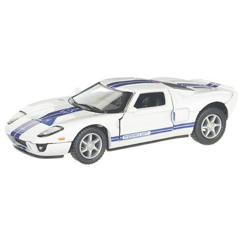 Купить Детская инерционная металлическая машинка с открывающимися дверями, модель Ford GT 2006, белый, Serinity Toys, Машинки и техника