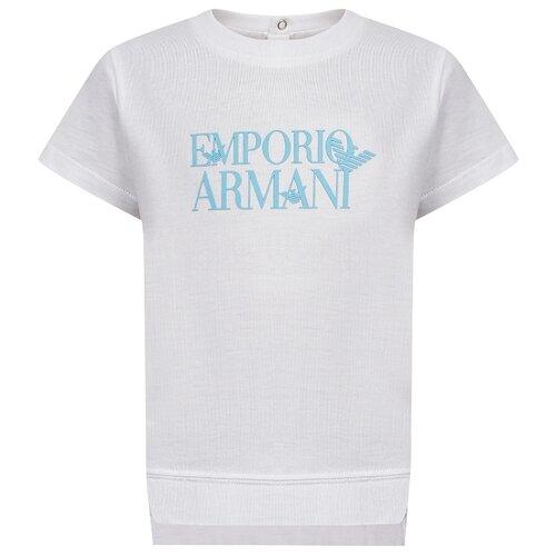 Футболка EMPORIO ARMANI, размер 74, белый футболка emporio armani размер 140 белый