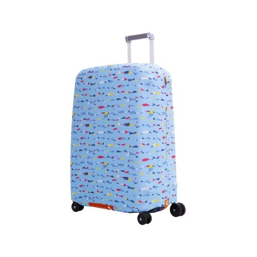 Чехол для чемодана ROUTEMARK «Грани» ART.LEBEDEV SP310 M/L, голубой