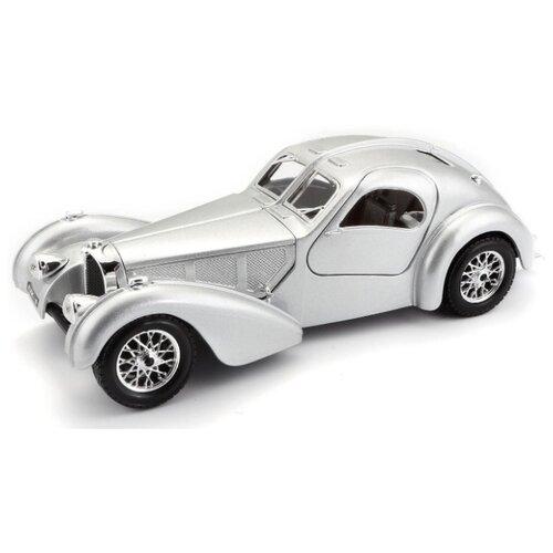 Купить Легковой автомобиль Bburago Bugatti Atlantic (1936) (18-22092) 1:24 17 см серебристый, Машинки и техника