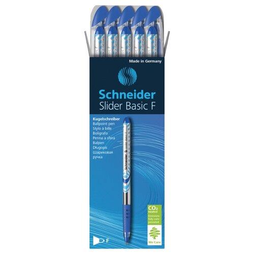 Купить Schneider Набор шариковых ручек Slider Basic F, 0.8 мм, 10 шт., синий цвет чернил, Ручки