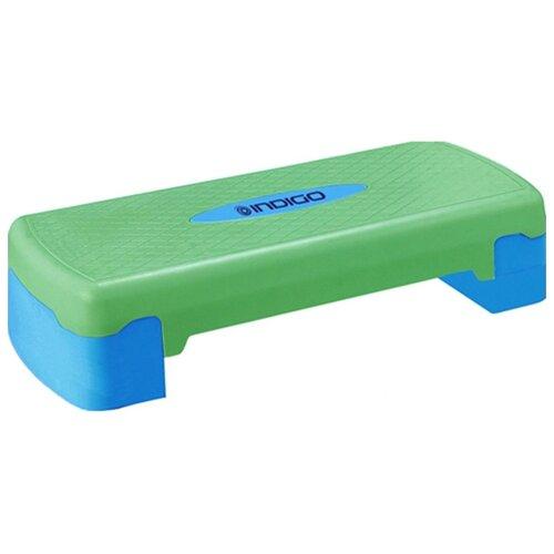 Степ-платформа Indigo IN171 68х28х15 см синий/зеленый