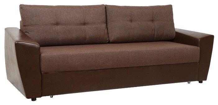 Прямой диван Первый Мебельный Амстердам Коричневый