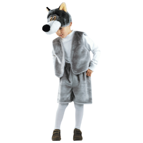 Купить Костюм Батик Волк Прохор (503), серый/белый, размер 122, Карнавальные костюмы