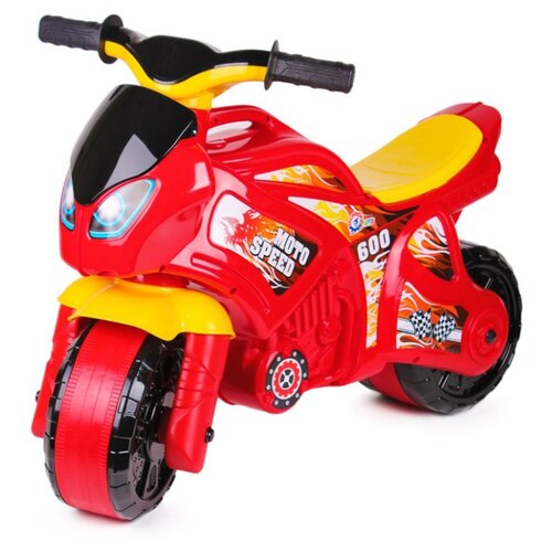 Купить Каталка-толокар ТехноК Мотоцикл (5118) красный/желтый, Каталки и качалки