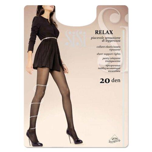 Колготки Sisi Relax 20 den, размер 5-MAXI XL, daino (коричневый) колготки sisi activity 70 den размер 5 maxi xl daino коричневый