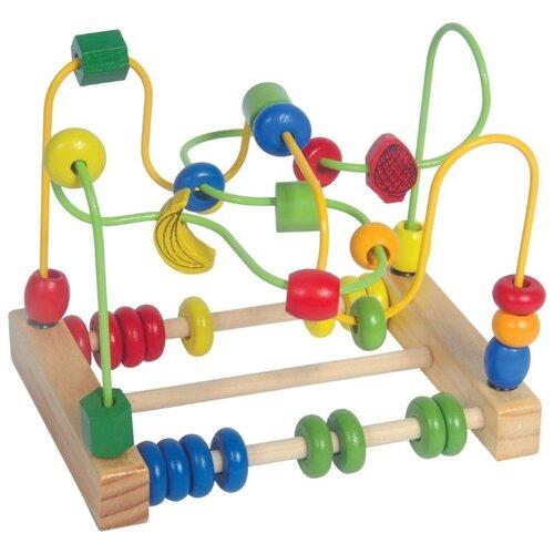 деревянные игрушки mapacha лабиринт сортер большой на колесиках Лабиринт Mapacha Счеты 76768 разноцветный
