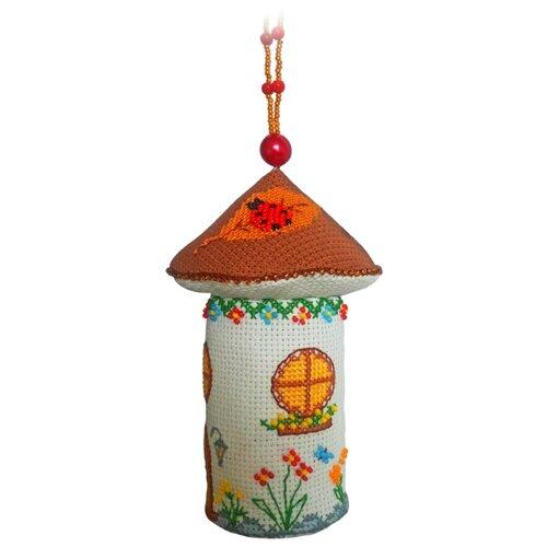 ZENGANA Набор для вышивания бисером и нитками Домик-боровик 13 х 8 см (М-047)