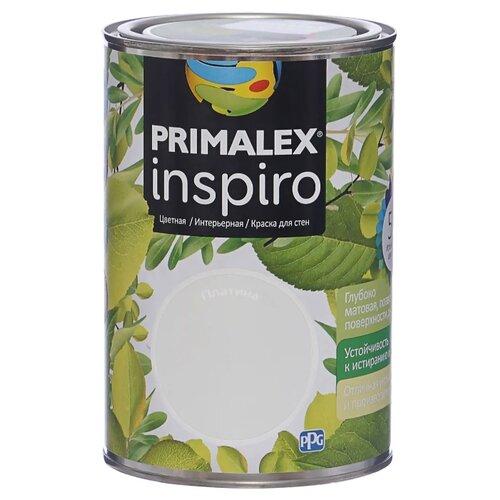 Краска PRIMALEX Inspiro моющаяся матовая платина 1 л
