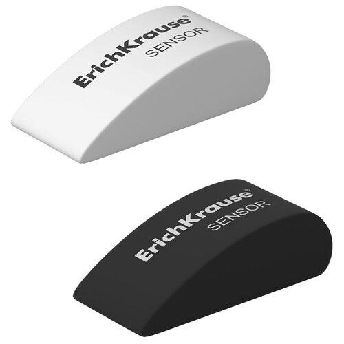 Купить ErichKrause Набор ластиков Sensor Black&White, 2 шт. белый/черный, Ластики