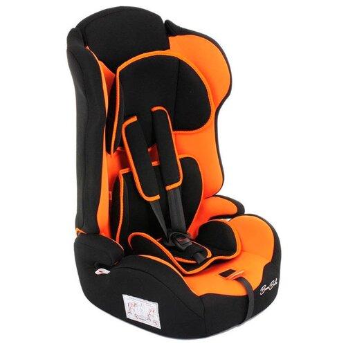 Автокресло группа 1/2/3 (9-36 кг) BamBola Primo, черный/оранжевый автокресло группа 1 2 3 9 36 кг little car ally с перфорацией черный