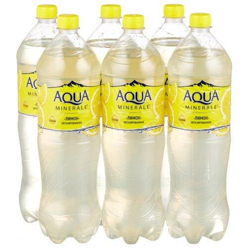 Фото - Вода питьевая Aqua Minerale негазированная с соком Лимон, ПЭТ, 6 шт. по 1.5 л вода aqua minerale малина 500 мл