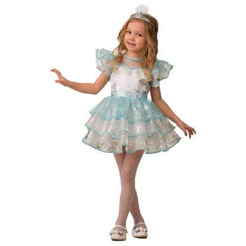 Купить Костюм Батик Снежинка Снежана (5238), белый/голубой, размер 128, Карнавальные костюмы