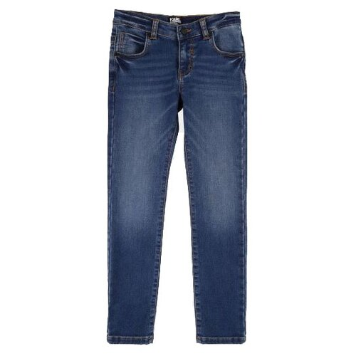 Джинсы Karl Lagerfeld размер 140, синий джинсы karl lagerfeld denim karl lagerfeld denim ka047ewfany0