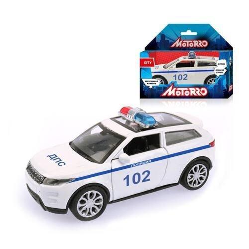 Купить Легковой автомобиль Motorro Полиция (21103) 1:34 белый, Машинки и техника