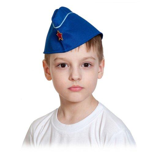 Головной убор КарнавалOFF Пилотка летчика ВВС (6200), синий, размер 53-55