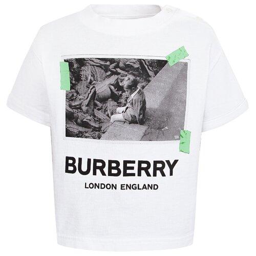 Футболка Burberry размер 80, белый футболка burberry 39624661