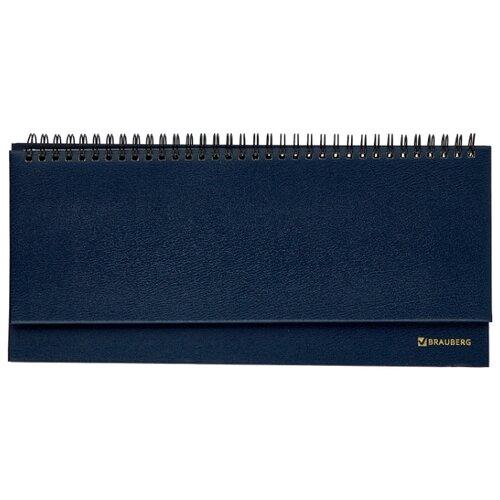 Планинг BRAUBERG Select недатированный, 60 листов, темно-синий, Ежедневники, записные книжки  - купить со скидкой