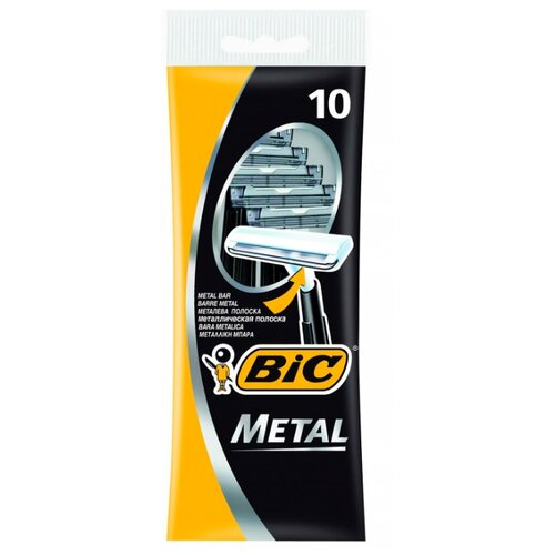 Бритвенный станок Bic Metal, 10 шт. смазка chepark bic 100s 150ml