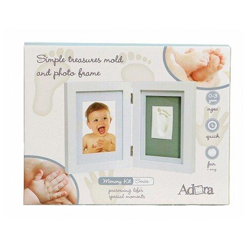 Купить ADORA Memory Kit - Рамка двойная деревянная для фотографии и отпечатка (NP005), Гипс