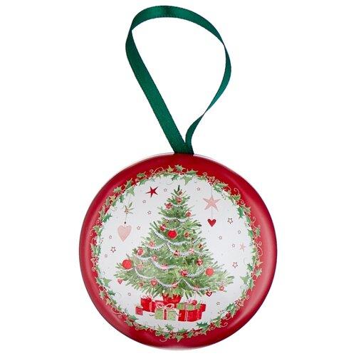Набор конфет Heidel White Christmas в елочной игрушке Bauble, 43 г зеленый/красный/белый