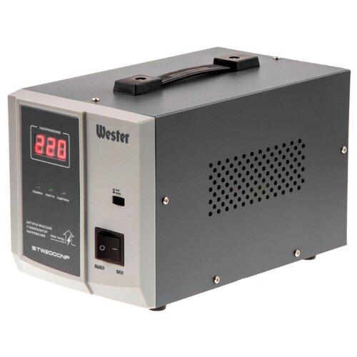 Фото - Стабилизатор напряжения однофазный Wester STW-2000NP (1.6 кВт) серый stw