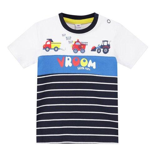 Купить Футболка playToday размер 74, белый/темно-синий/синий, Футболки и рубашки
