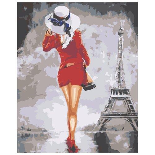 Купить Картина по номерам Живопись по Номерам Девушка в красном платье , 40x50 см, Живопись по номерам, Картины по номерам и контурам