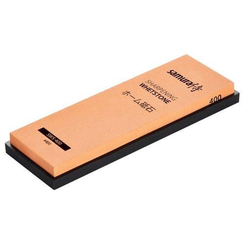 Фото - Точильный камень Samura SWS-400 водный однослойный черный/оранжевый камень точильный водный однослойный 5000 sws 5000 y samura