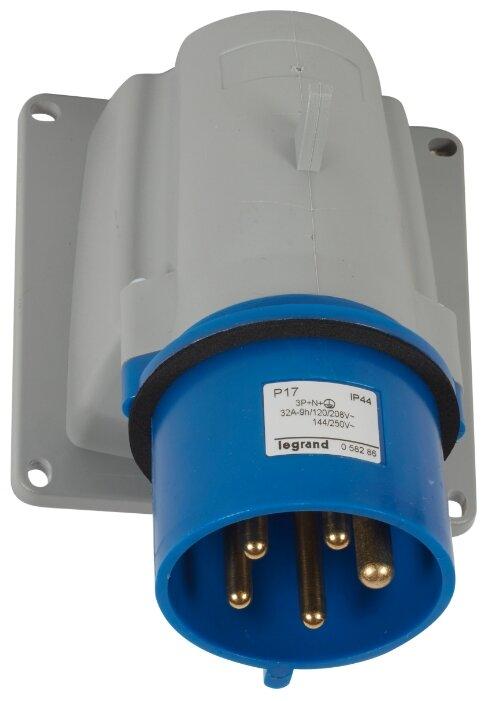 Вилка силовая (CEE) стационарная для монтажа на поверхности/оборудовании Legrand 058286