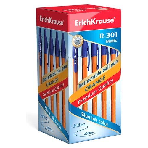 Фото - ErichKrause Набор шариковых ручек R-301 Orange Matic 0.7 мм, 50 шт., синий цвет чернил сеllo набор шариковых ручек butterflow clic 0 8 мм 12 шт синий цвет чернил