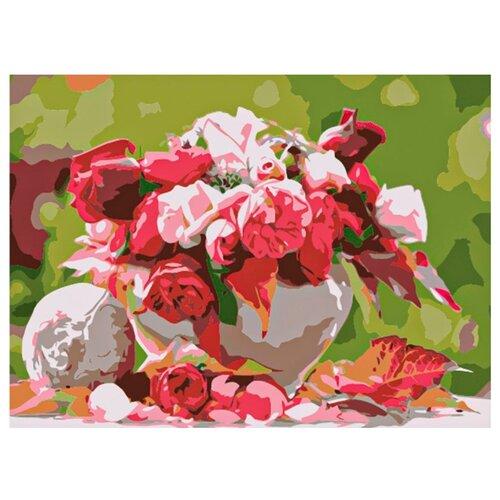 Рыжий кот Картина по номерам Красивый розовый букет 22х30 см (HS175) картина по номерам рыжий кот 22х30 см по номерам живописное место hs146