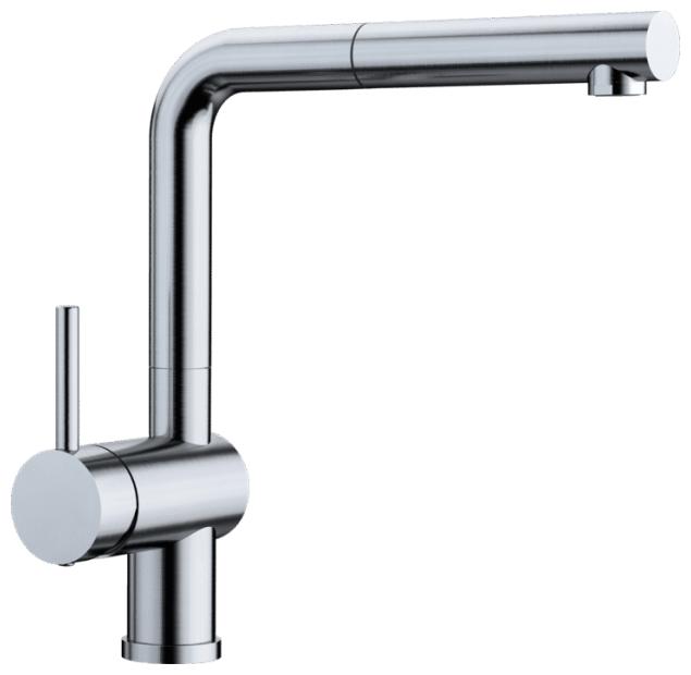 Смеситель для кухни (мойки) Blanco LINUS-S (нержавеющая сталь) однорычажный