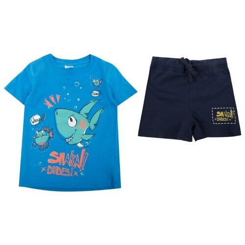 Купить Комплект одежды Fresh style размер 74, голубой/синий, Комплекты