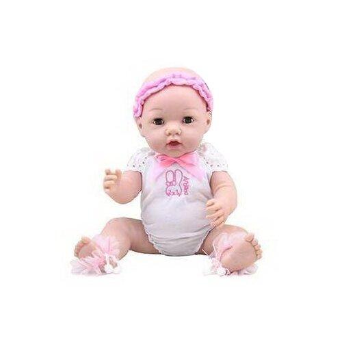 Пупс Junfa toys Baby Ardana в белом боди, 40 см, A317B пупс junfa toys baby so lovely 1911 3