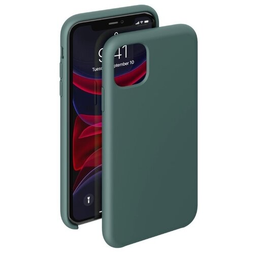 Чехол-накладка Deppa Liquid Silicone Case для Apple iPhone 11 Pro Max темно-зеленый чехол deppa liquid silicone case для apple iphone 11 pro max лавандовый картон 87312
